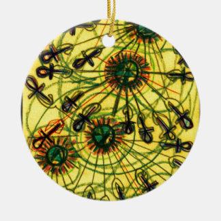 Ankh Rays Imprint Ceramic Ornament