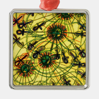 Ankh Rays Imprint Metal Ornament
