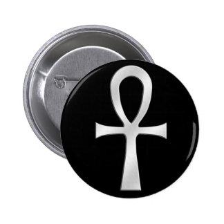 Ankh Silver Button