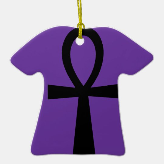 Ankh Symbol Ornament (Purple)