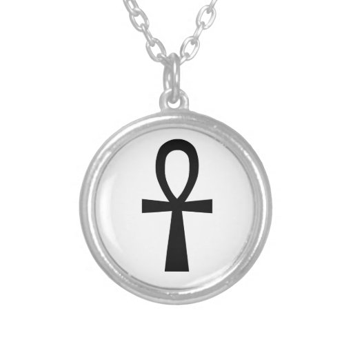 Ankh Symbol Silver Plated Necklace