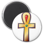 Ankh- The Ancient Egyptian Symbol of Life 2 Inch Round Magnet