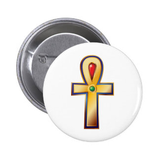 Ankh- The Ancient Egyptian Symbol of Life Pinback Buttons