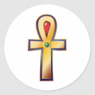 Ankh- The Ancient Egyptian Symbol of Life Classic Round Sticker