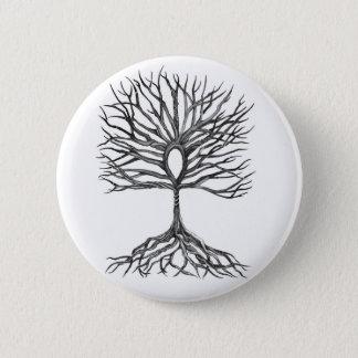 Ankh  Tree of LIfe Design Pinback Button