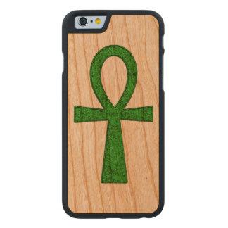 Ankh verde funda de iPhone 6 carved® slim de cerezo