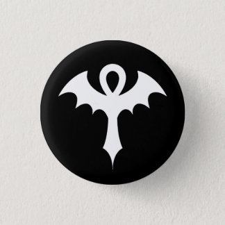 Ankh With Bat Wings Pinback Button