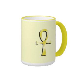 Ankh Yellow Ringer Mug