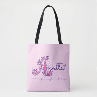 Ankita name and meaning monogram bag