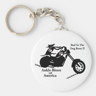 Ankle-Biters Of America Basic Round Button Keychain