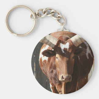 Ankole-Watusi Steer With Huge Horns Keychain