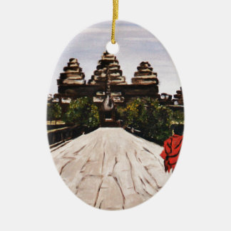 Ankor Wat Ceramic Ornament