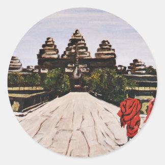 Ankor Wat Classic Round Sticker