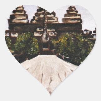 Ankor Wat Heart Sticker