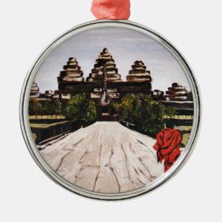 Ankor Wat Metal Ornament