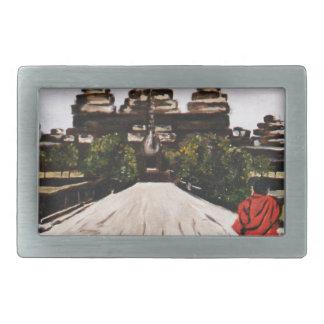 Ankor Wat Rectangular Belt Buckle