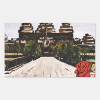Ankor Wat Rectangular Sticker