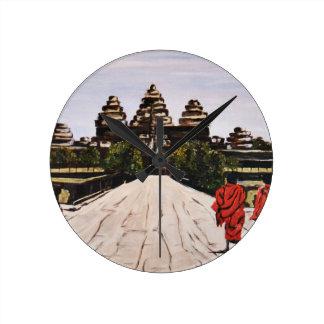 Ankor Wat Round Clock