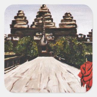 Ankor Wat Square Sticker