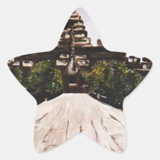 Ankor Wat Star Sticker