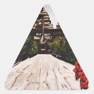 Ankor Wat Triangle Sticker