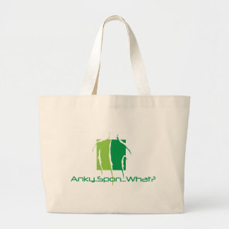 Anky..Spon...What? Large Tote Bag