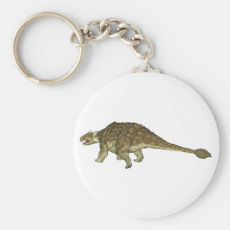 Ankylosaurus Basic Round Button Keychain