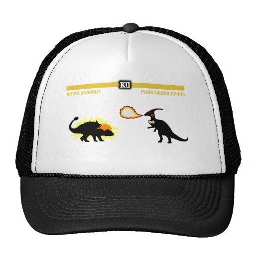 Ankylosaurus del combatiente del dinosaurio gorros bordados
