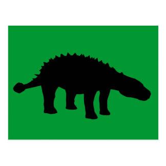 Ankylosaurus Dino Dinosaur Silhouette Post Cards