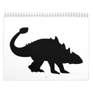 Ankylosaurus dinosaur calendar