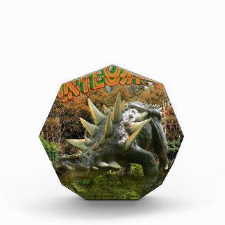 Ankylosaurus Dinosaur Park Vegetation and  Volcano Acrylic Award