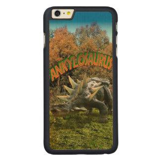 Ankylosaurus Dinosaur Park Vegetation and  Volcano Carved Maple iPhone 6 Plus Case