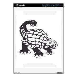 Ankylosaurus Dinosaur Prehistoric Black and White Skin For The Xbox 360