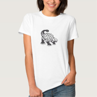 Ankylosaurus Dinosaur Prehistoric Black and White T-Shirt
