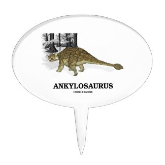 Ankylosaurus (Fused Lizard Dinosaur) Cake Topper