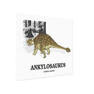 Ankylosaurus (Fused Lizard Dinosaur) Gallery Wrap Canvas