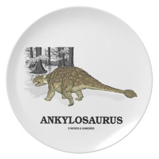 Ankylosaurus (Fused Lizard Dinosaur) Party Plates