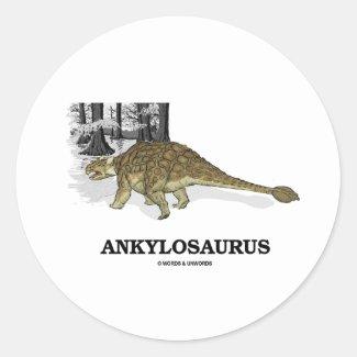 Ankylosaurus (Fused Lizard Dinosaur) Round Sticker