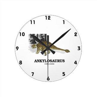 Ankylosaurus (Fused Lizard Dinosaur) Wallclock