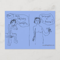 Ankylosing Spondylitis Announcement Comic postcard