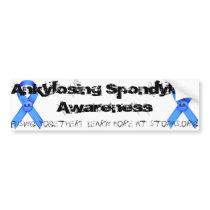 Ankylosing Spondylitis Awareness Bumper Sticker