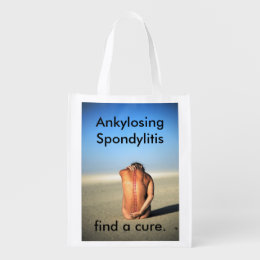 Ankylosing Spondylitis Awareness Grocery Tote Bag