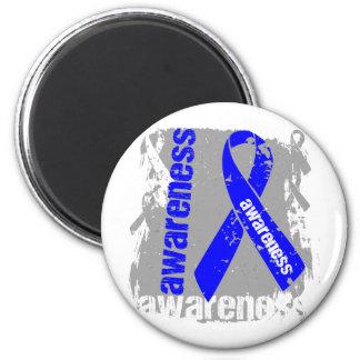 Ankylosing Spondylitis Awareness Grunge Ribbon 2 Inch Round Magnet