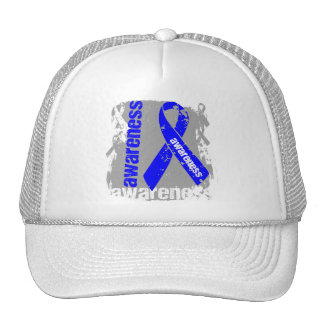 Ankylosing Spondylitis Awareness Grunge Ribbon Trucker Hat