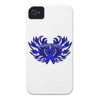 Ankylosing Spondylitis Awareness Heart Wings iPhone 4 Case-Mate Case
