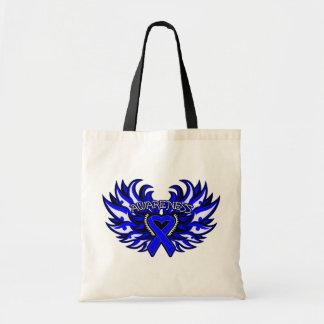 Ankylosing Spondylitis Awareness Heart Wings.png Budget Tote Bag