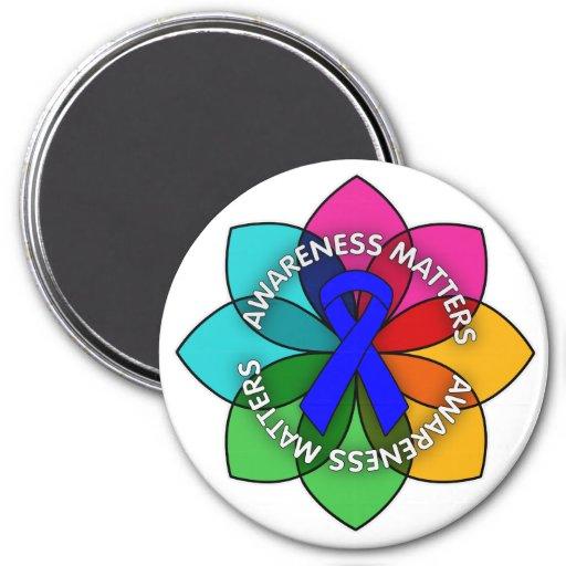 Ankylosing Spondylitis Awareness Matters Petals Refrigerator Magnets
