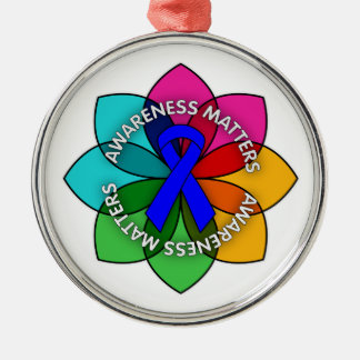 Ankylosing Spondylitis Awareness Matters Petals Christmas Ornament