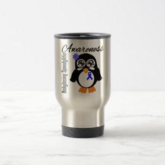 Ankylosing Spondylitis Awareness Penguin 15 Oz Stainless Steel Travel Mug