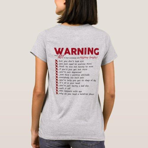 Ankylosing Spondylitis Awareness T_Shirt Ribbon